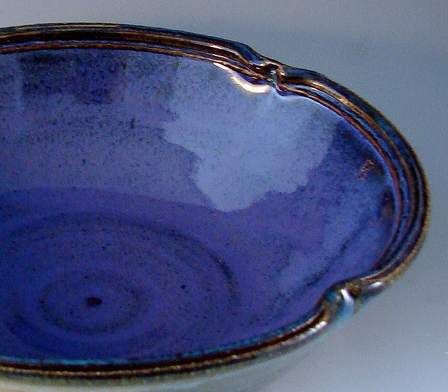 Ceramic dinnerware blue glazed dish stoneware