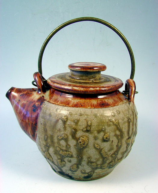 Clay kettle stoneware glazed teapot