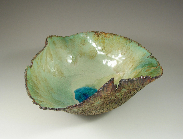 Unique dinnerware green dish sculpture