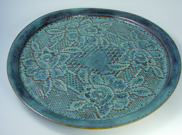 Clay teal terracotta plate dish
