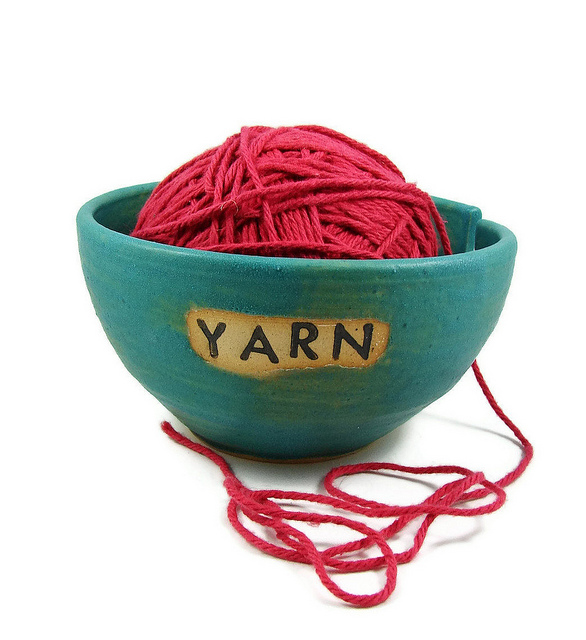 Unique clay crafts yarn bowl knitting